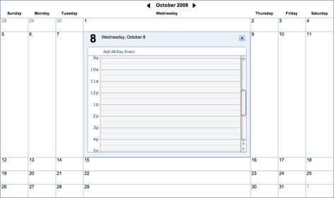 Yahoo! Calendar