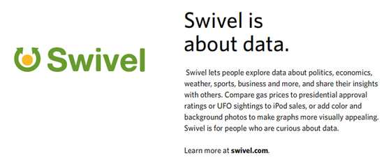 Swivel is about data