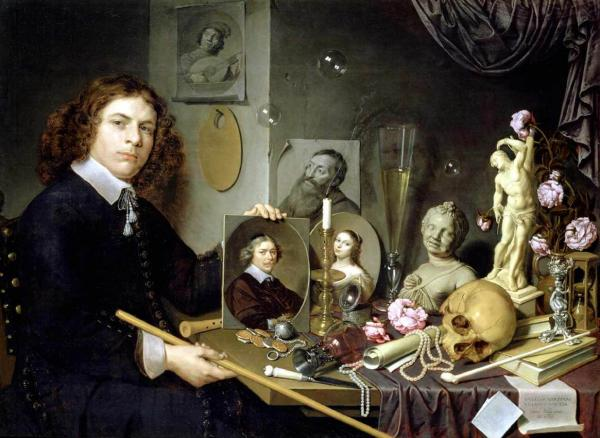 David Bailly, Self-Portrait with Vanitas Symbols