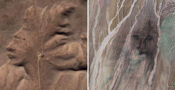 "Faces found on Google Maps: ""Medicine Man"" and ""Face of God"""