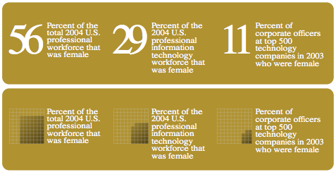 Women in the IT workforce (based on NCWIT)