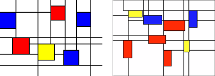 Weather and email visualized using the Mondrian metaphor