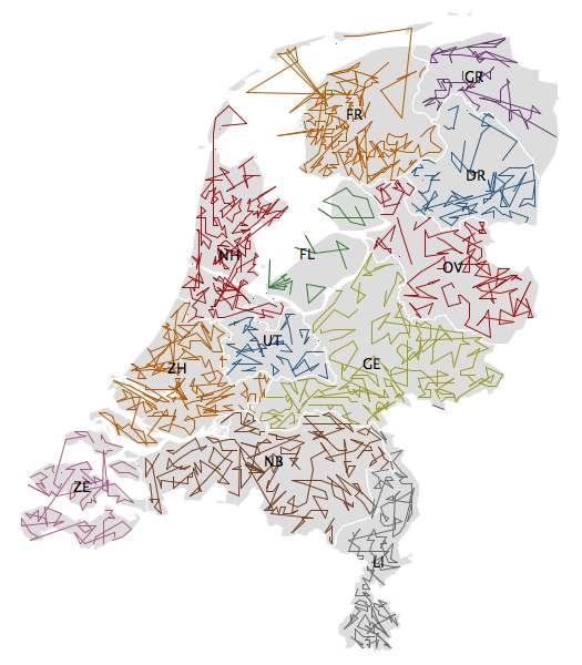 ZIPScribbleMap Netherlands