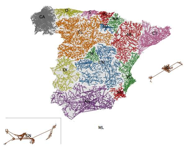 ZIPScribbleMap Spain