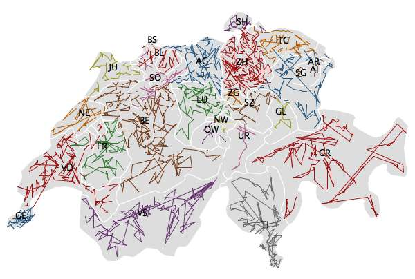 ZIPScribbleMap Switzerland