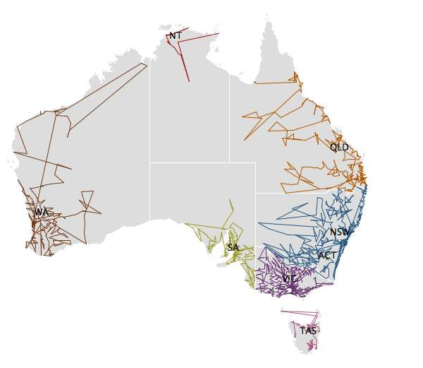 ZIPScribble Map Australia