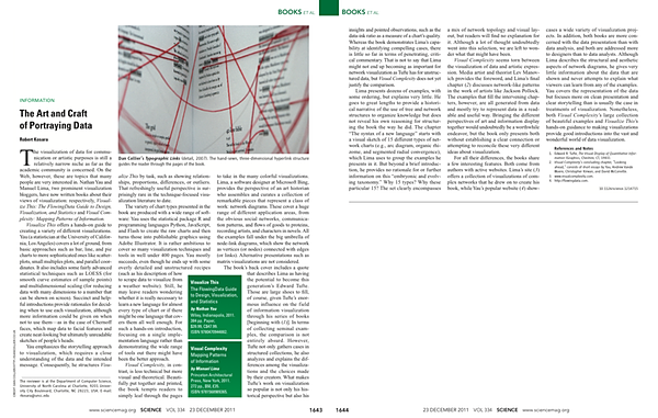 My Review of Visualize This and Visual Complexity for Science Magazine