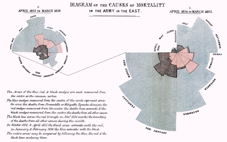 Florence Nightingale, Diagram of the Causes of Mortality in the Army in the East