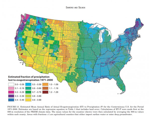 Evapotranspiration Map
