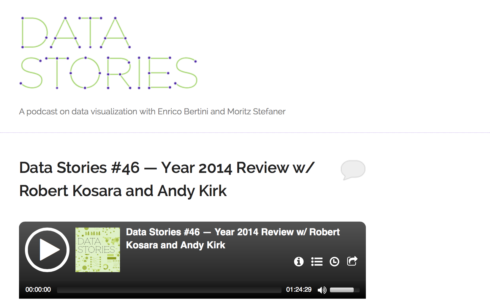 Link: Data Stories Podcast 2014 Review