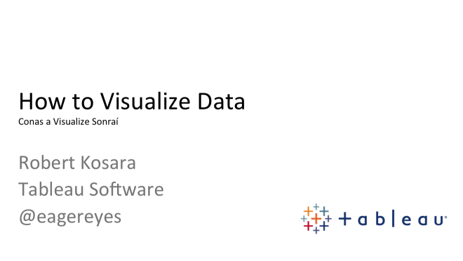 Talk: How to Visualize Data